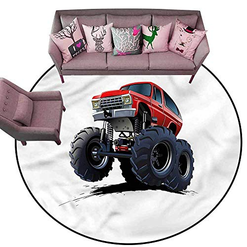 (Floor Mat Entrance Doormat Truck,Extreme Off Road Race Diameter 60