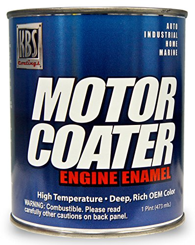 KBS Coatings 60301 Chevy Orange Motor Coater Engine Paint - 1 Pint (Paint High Temp Enamel Gloss)