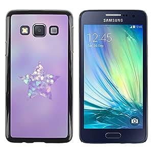 TopCaseStore / la caja del caucho duro de la cubierta de protección de la piel - Glass Diamond Star - Samsung Galaxy A3 SM-A300