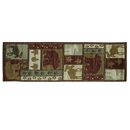 Wilderness Accent - Bacova Guild 30979 Studio Designs Carved Wilderness Lodge Accent Rug, 58