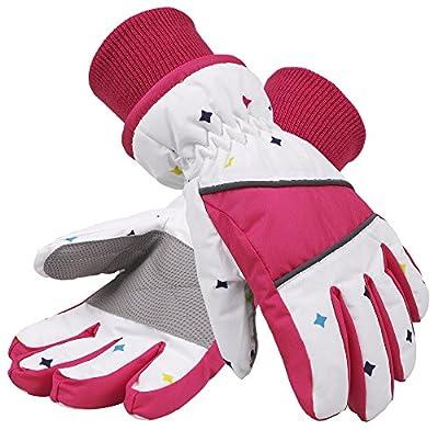 SimpliKids Girl's Waterproof 3M Thinsulate Winter Ski & Snowboard Gloves