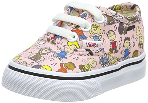 Vans Unisex Babies' Peanuts Authentic Trainers, Multicolour (Peanuts/Dance Party/Pink), Child 9.5 UK ()