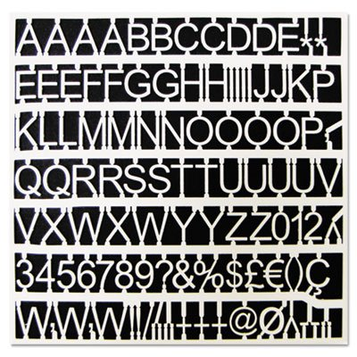 Bi-Silque Visual Communication Products CAR1002 White Plastic Set of Letters44; Numbers & Symbols - 1 in. Dia.