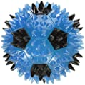 """Gnawsome Squeak and Light Soccer Ball for Dogs, Medium 3.5"""", Colors will vary from Royal Pet Incorporated"""