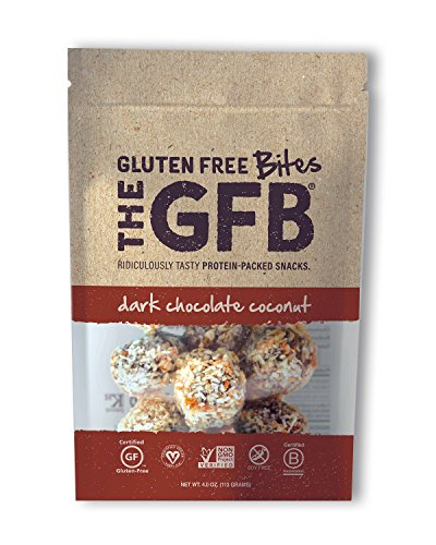 The GFB Protein Bites, Dark Chocolate Coconut, 4 Ounce, Gluten Free, Non GMO