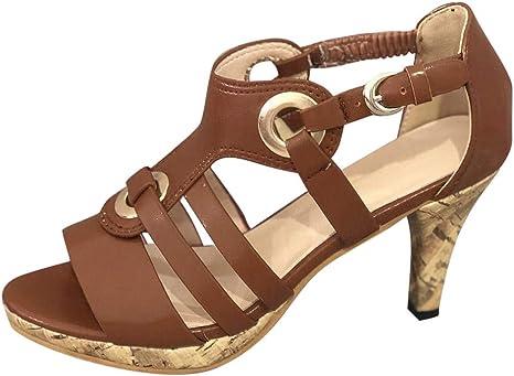Women Retro High Heel Sandals Clearance