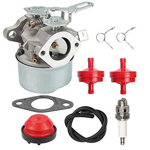 ATVATP HSSK50 Carburetor for Tecumseh HS50 HSK40 HSK50 HSSK40 HSSK55 LH195SA LH195SP OHSK110 OHSK120 OHSK125 Snow Blower 632107 632107A 640084 640084A 640084B