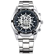 Wrath Skull Collection Silver Black Dial Automatic Mechanica