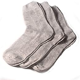 Low Price Special Thin Breathable Organic Linen Socks For Men Pack Of 3
