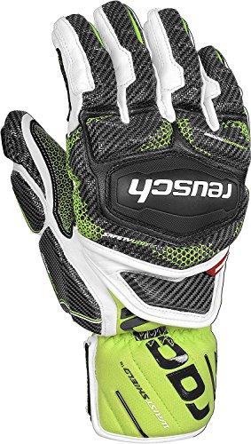 Reusch Racing Gloves - Reusch Snowsports Race Tec 16 Gs Ski Mittens, Black/White, Medium