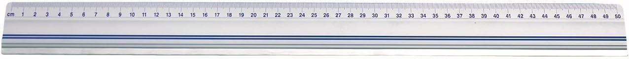 Wedo 0525450 - Regla para cortar con freno antideslizante, 50 cm