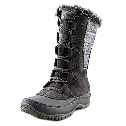 The North Face Nuptse Purna Boot Womens Plum Kitten Grey/Steeple Grey 8 North Face Womens Boots