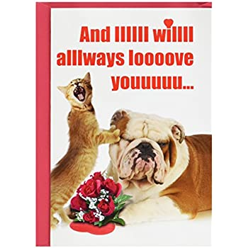 And Iiiiii Will Always Hysterical Valentines Day Greeting Card With An Image Of A Singing