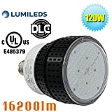 120W LED Warehouse High Bay Fixture Retrofit 400Watt Metal Halide Garage Barn Light 5000K Daylight White Store Shop Storage Lights E39 Mogul Screw Base Club School Basement Lamps (120)