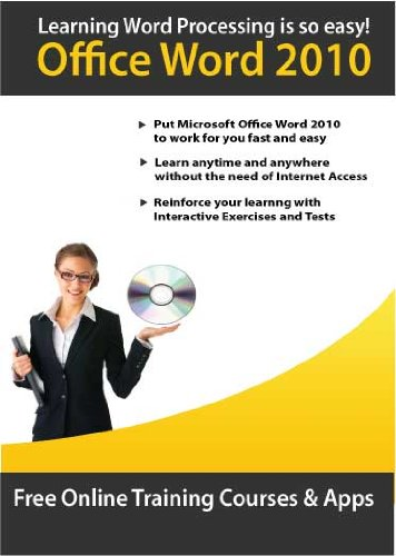 Learn Microsoft Word 2010 Interactive Step-by-Step CD Training Course by Amazing Elearning