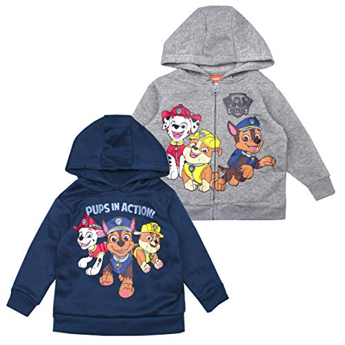 Paw Patrol Boys Hoodie Set - 2 Pack of Nickelodeon Paw Patrol Hoodies (Multicolored, -