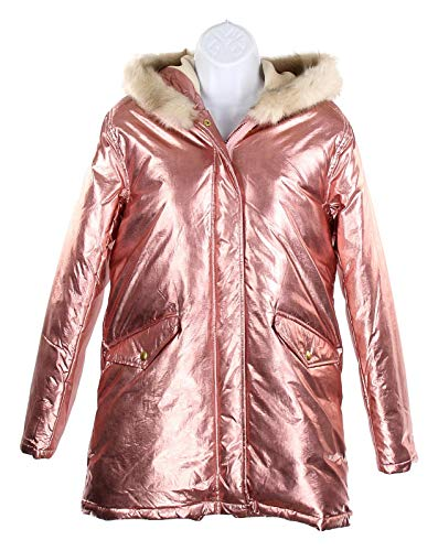 J Crew Crewcuts Girls Metallic Puffer Parka Down Fishtail for sale  Delivered anywhere in USA