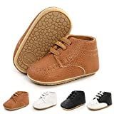 Meckior Infant Baby Boys Girls Classic PU Leather
