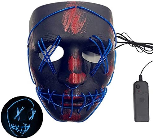 515AXtayM6L. AC  - ASON Halloween Scary Mask Cosplay Led Costume Mask
