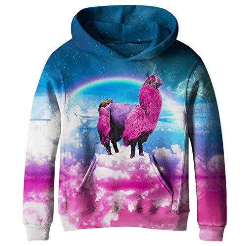 SAYM Big Girls Galaxy Fleece Pockets Sweatshirts Jacket Pullover Hoodies NO9 L