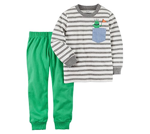 Carter's Baby Boys' Striped Jersey Top and French Terry Joggers Set