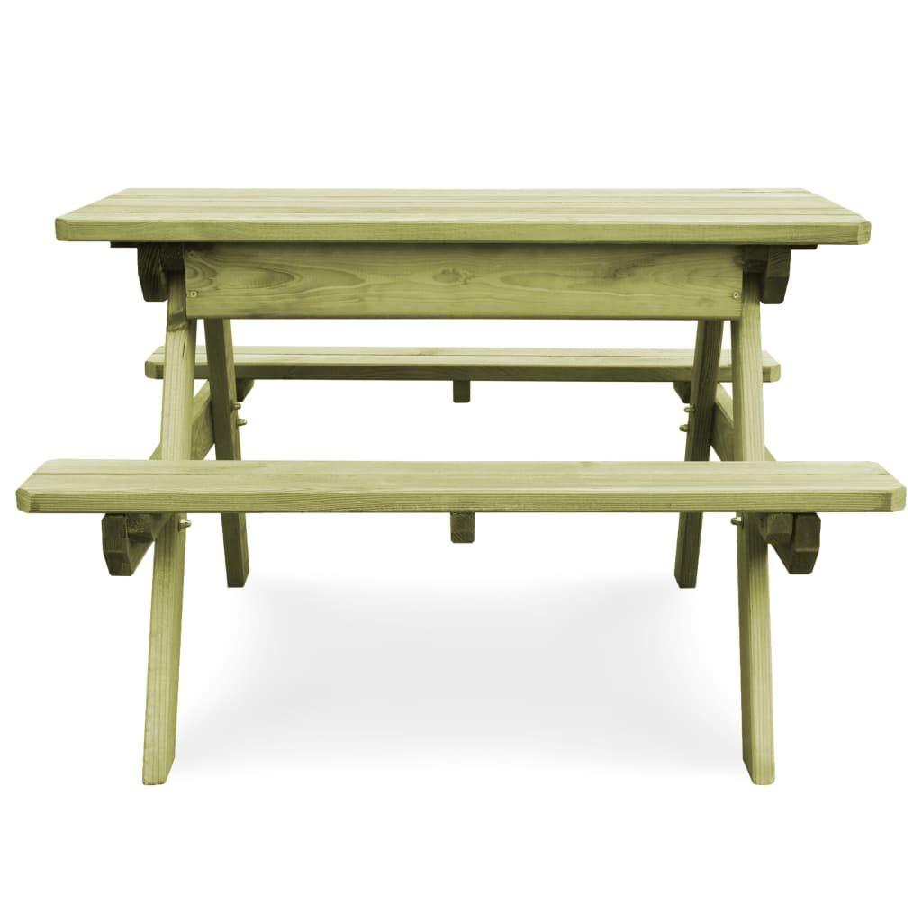 Tidyard Picknicktisch mit Bänken Kiefernholz Imprägniert Picnic Table Garden Furniture Table Wooden Bench Beer Bench with Benches Pine Wood Impregnated
