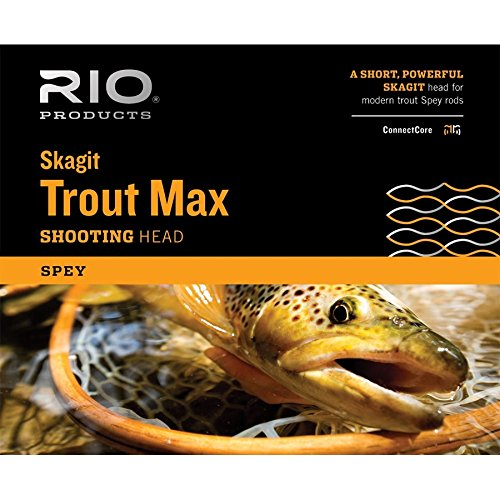 RIO Fly Fishing Fly Line Skagit Trout 200gr Fishing Line, Teal/Orange Review
