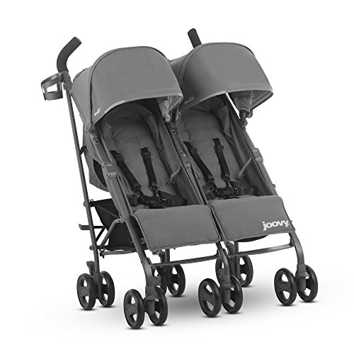 JOOVY Twin Groove Ultralight Umbrella Stroller, Charcoal - Mini Aluminum Reflector