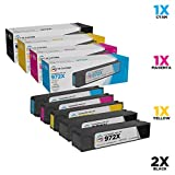 LD Compatible Ink Cartridge Replacements for HP 972X High Yield (2 Black, 1 Cyan, 1 Magenta, 1 Yellow, 5-Pack)