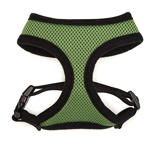Casual Canine Green - Casual Canine Mesh Dog Harness, Medium, Green