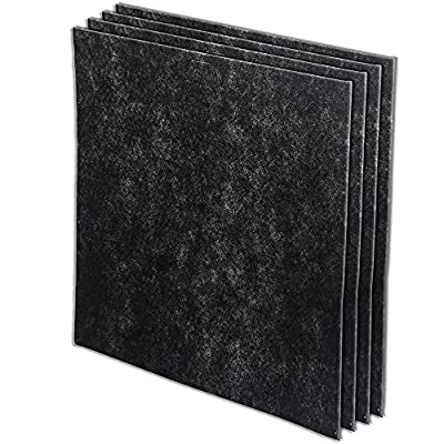 Whirlpool 8171510K (8171510), 4-Pack (Extra Large), 1-Full Year Supply Charcoal Carbon-Based Pre-Filters, For Air Purifier Model WP1000 and WPPRO2000, 17.9x17.7 inch
