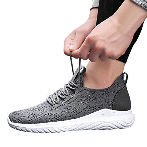 Cross da Sneakers da all'Aperto Running Yoga Ginnastica Scarpe Uomini Interior Corsa Casual Ventilazione da Trekking Basket Ginnastica Scarpe Corsa Scarpe Grigio Tied SmrBeauty 7qw5SHfZw