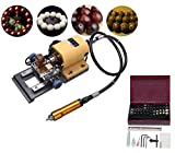 EFK-II Supply 380W Pearl Drilling Holing Machine Driller Bead Jewelry Punch Tools Full Set 110/220V (110V)