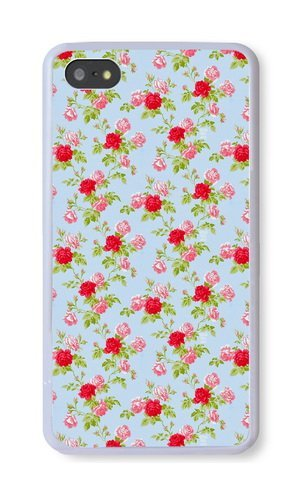 iPhone 5S Case, White PC Hard Phone Cover Case For iPhone 5S With Floral Pattern Theme Phone Case