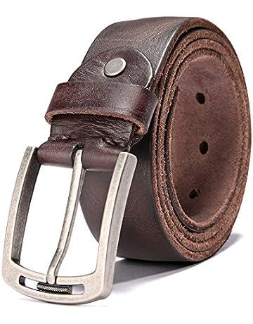 bcabd5da105 Men's 100% Italian Cow Leather Belt Men With Anti-Scratch Buckle,Packed in