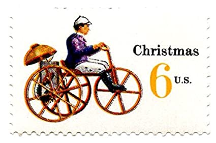 USA Postage Stamp Single 1970 Christmas Mechanical Tricycle Issue 6 Cent Scott 1417