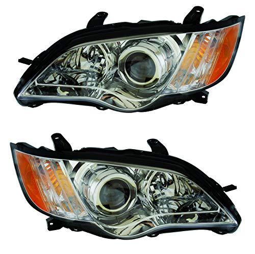 For 2008 2009 Subaru Outback Headlights Headlamps Assembly Driver Left and Passenger Right Side Pair Set Replacement SU2502133 SU2503133