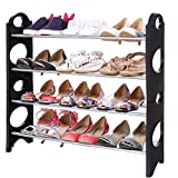 Cheesea Home Portable Folding 4 Tiers DIY Shoes Rack Space Saving Standing Organizer