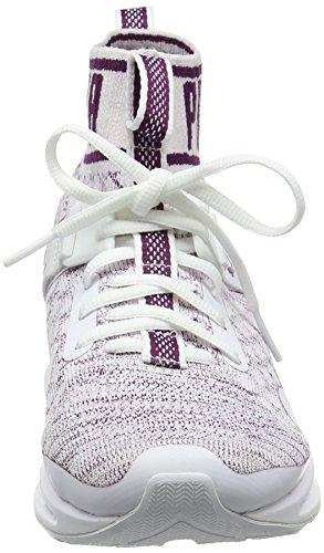 Puma Women's Ignite Evoknit Multisport Outdoor Shoes White (White-vaporous Gray-dark Purple) loRVmjP6