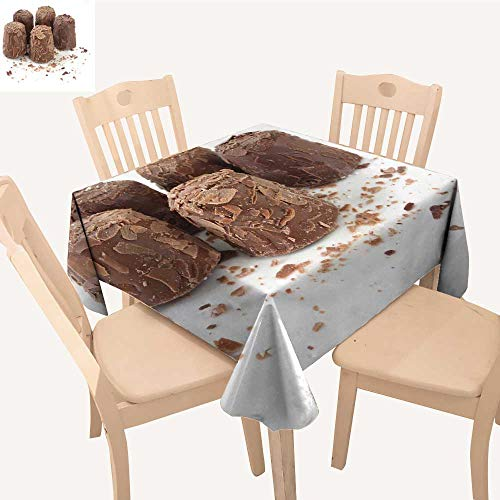 - UHOO2018 Decorative Tablecloth Square/Rectangle f cy Chocolate Truffles on White Surface Assorted Size,50x 59inch