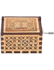 Music Box,Wooden Hand Crank Music Box Mechanical Classic Craft Birthday Gift Birthday Gift Gift Home
