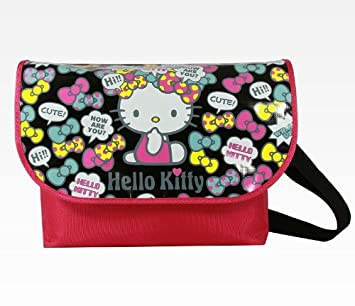 0a93614c18 Hello Kitty Black Messenger Bag  Collage By Sanrio  Amazon.in  Bags ...