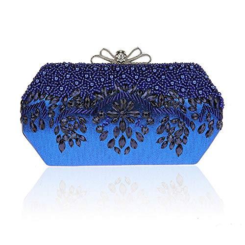 Pochette Chaîne Sac Téléphone Blue D'embrayage Main Vintage Embrayage Portefeuille Clutches À Soirée zS7RFqI7wx