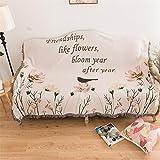 American country Sofa towel Vintage sofa cushion Mediterranean Sofa blanket Decoration blanket Carpet Bird tapestry-A 130x160cm(51x63inch)