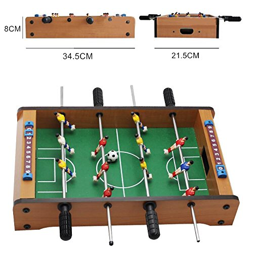 JFA 14 Inch Soccer Table Football Board Game Kids Toy Family Party Games Wood Toy Portable Travel Tabletop Football Set