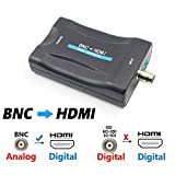 aoeyoo BNC HDMI Video Converter Adapter Hook up TV Monitor HD Security Camera CCTV DVRs 720P 1080P Output HDCP Deep Color - Female BNC Component Adaptor Analog CVBS Input to HDMI Composite Connector