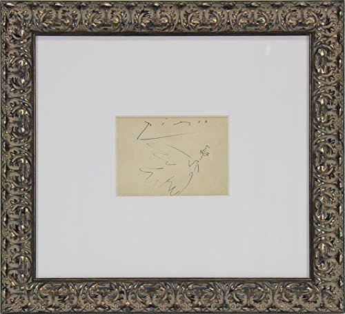 Pablo Picasso Authentic Signed Framed 5x6.5 Original Dove of Peace Artwork BAS