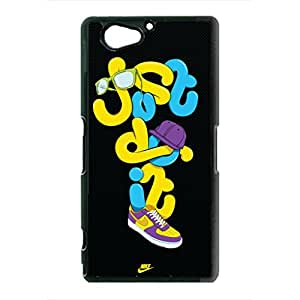 Just Do It Sony Xperia Z2 Compact Case,Popular Artistic Design Nike Logo Just Do It Phone Case Protective Hard Plastic Case Cover For Sony Xperia Z2 Compact,Black Phone Case
