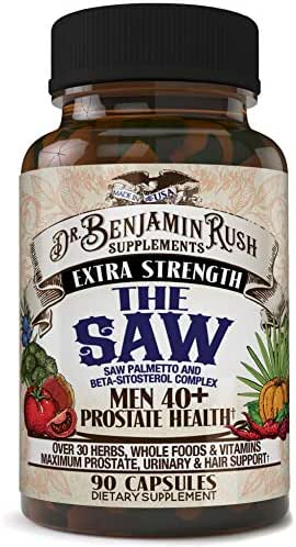 Prostate Health Supplements for Men 40 Plus with The Saw - Saw Palmetto, Beta-Sitosterol, Complete 30+ Herbs, Vitamins and Whole Foods - Support Libido, Frequent Urination, DHT Blocker for Hair Loss