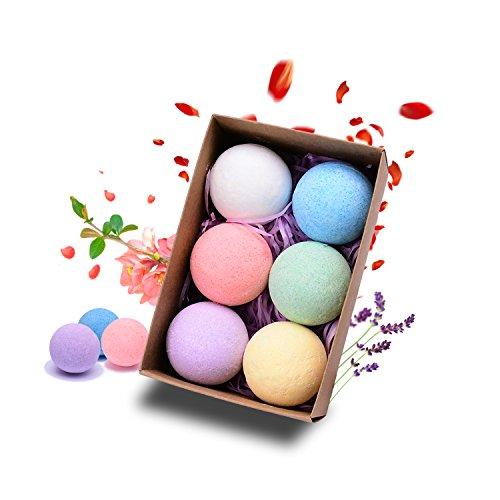Premium-Bath-Bombs-Kit-Gift-Set-41-Oz-Ultra-Lush-Bubble-Bath-Handmade-Essential-Oil-Spa-Fizzy-Tub-Tea-Bath-Basket-Shea-Butter-and-Cocoa-to-Moisturize-Dry-Skin-Relaxation-Teen-Girls